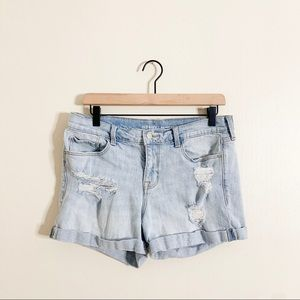 Old Navy Distressed Light wash Boyfriend Shorts